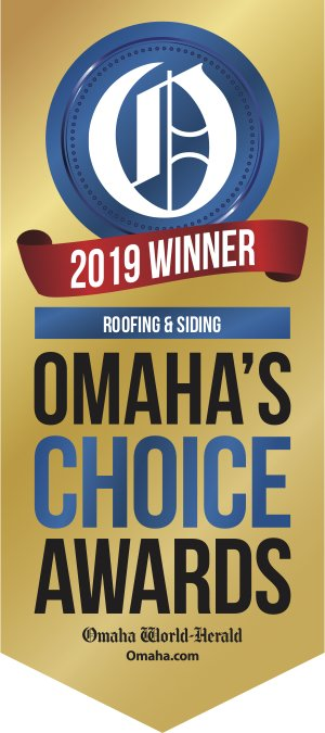 We were voted Omaha's roofing choice award in 2019!