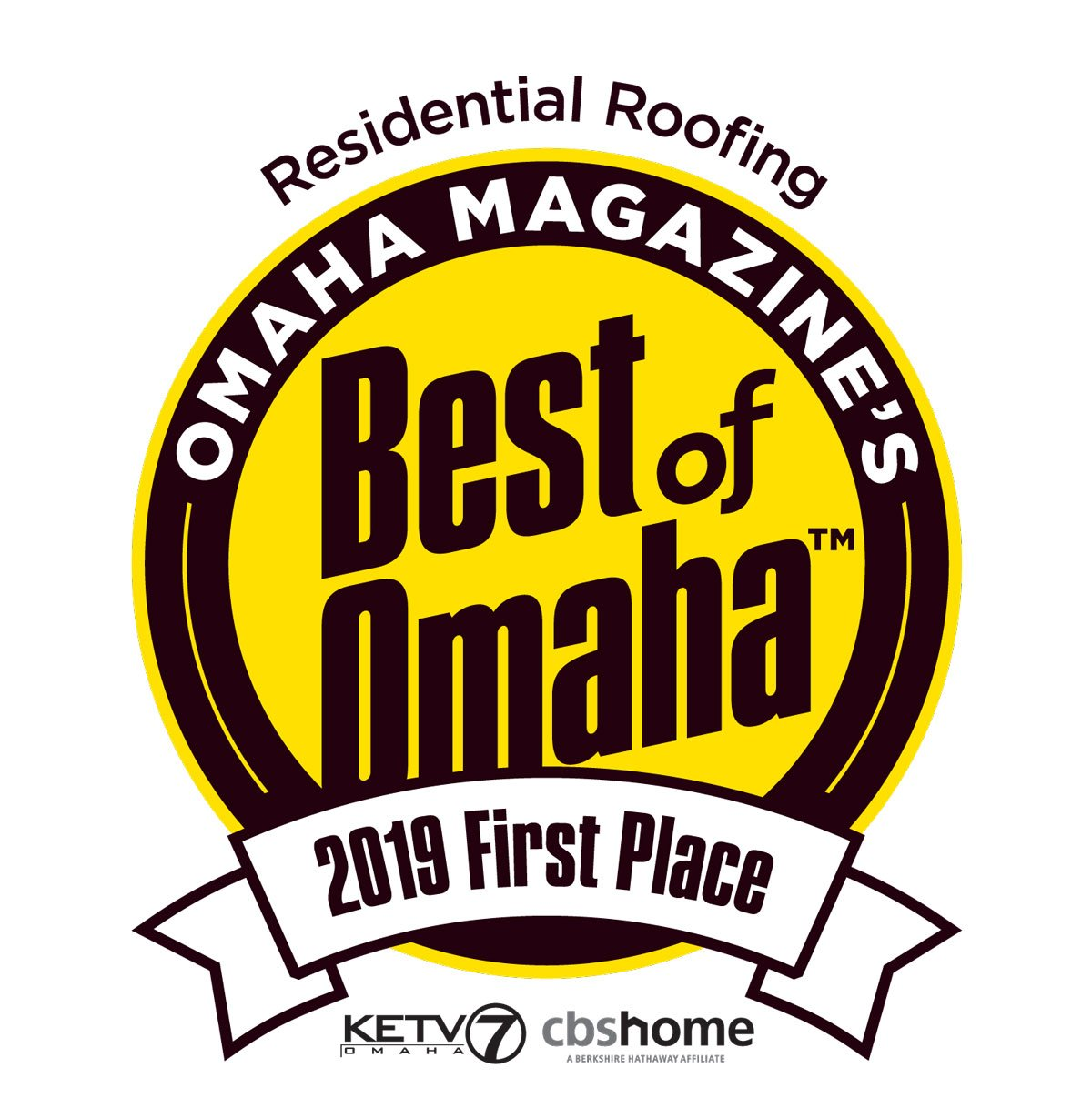 Our best Roofing in Omaha Award!