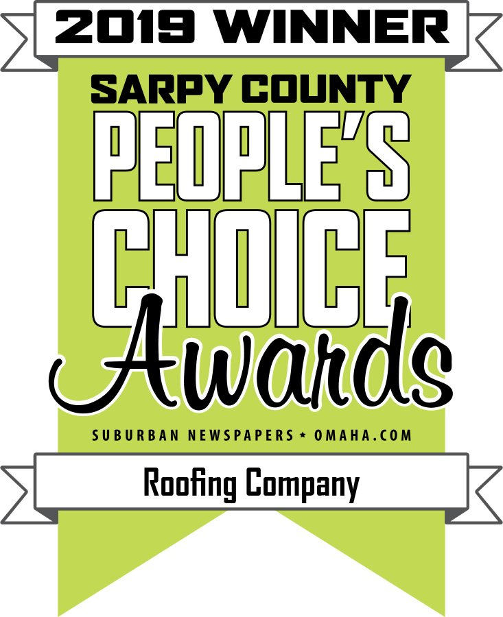 Moose Roofing won the 2019 Sarpy County People's Choice Award for Best Roofing Company in Omaha.