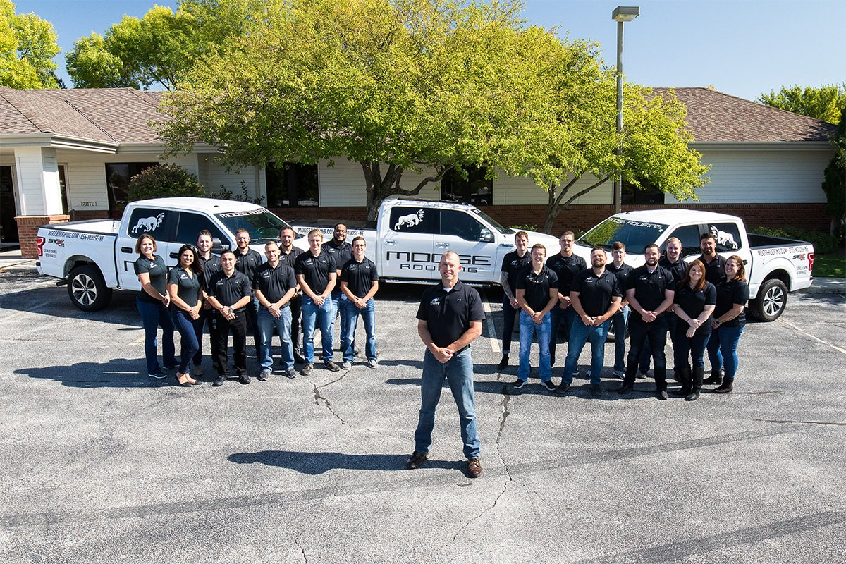 Moose Roofing's team is based in Omaha and Lincoln Nebraska